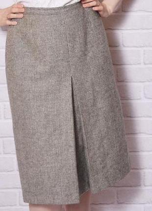 Шерстяная юбка а-силуэта