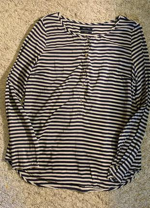 Шелковая блуза в полоску marc o'polo