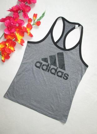 Фирменная  спортивная майка борцовка серый меланж adidas clima...