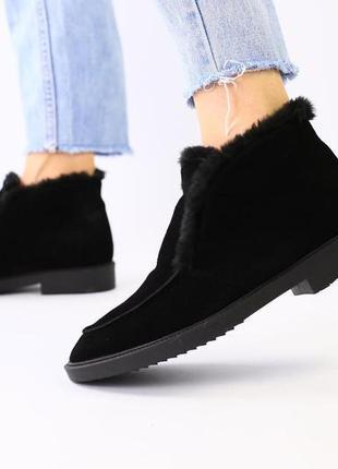 Lux обувь! трендовые женские натуральные зимние лоферы сапоги ...