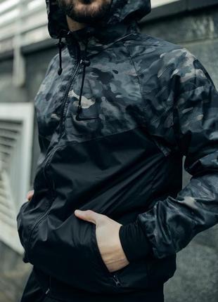 Мужская куртка легкая ветровка с подкладкой осенняя куртка с к...