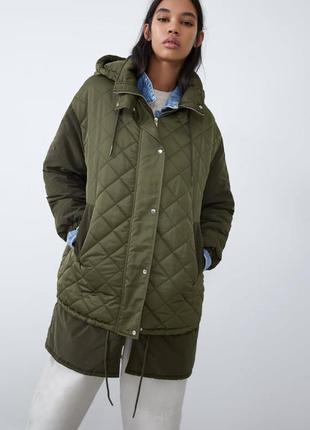 Комбинированная стёганная куртка от zara