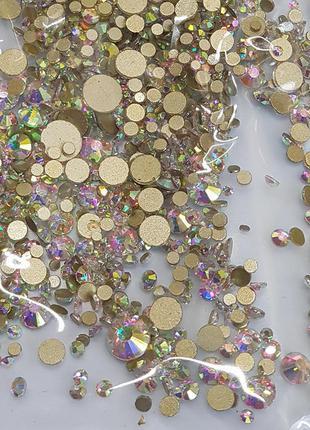 Стразы разного размера хамелеон s3-ss12 стекло 1440 штук