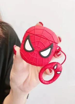 Чехол футляр для наушников Apple AirPods Человек-паук