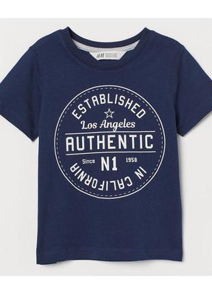 H&m футболка для мальчика на 4-6 лет