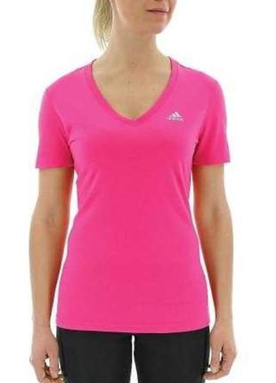 Фирменная спортивная футболка  нежно розового цвета adidas ори...