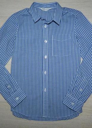 Рубашка в мелкую клетку h&m 8-9 лет