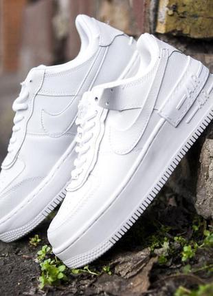 Nike air force shadow white кроссовки найк белые мужские / жен...