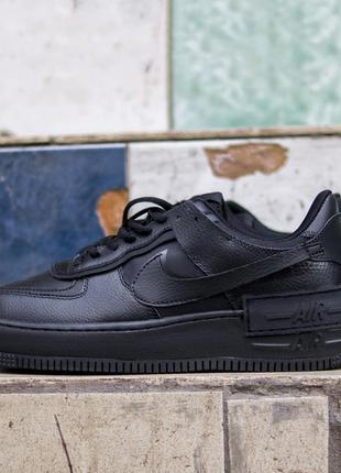 Nike air force shadow black, мужские кроссовки найк черные