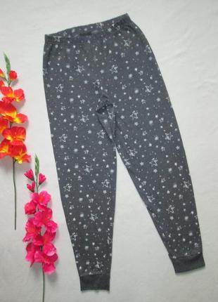 Трикотажные спортивные брюки с начесом принт звездное небо  с ...