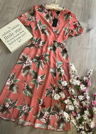 Нежное летнее платье, платье вискоза, длинное платье