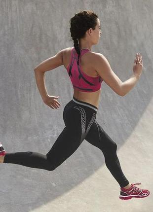 Крутые спортивные лосины леггинсы с орнаментом crivit pro