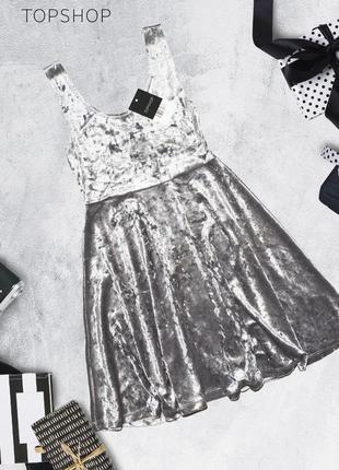 Новое платье с бархатным переливом topshop