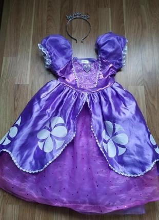 Платье принцесса софия 3-4 года