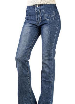 Расклешонные трендовые джинсы на девочек