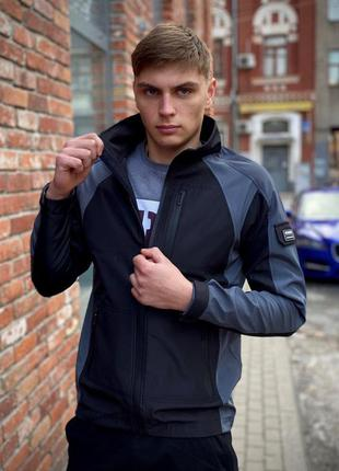 Мужская куртка осенняя матерал софтшелл непродуваемый