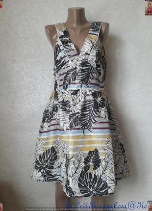 Фирменное h&m короткое платье/сарафан с люрексной нитью в круп...