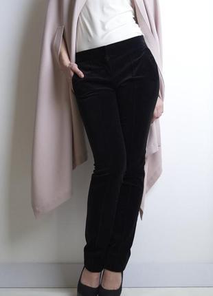 Трендовые бархатные велюровые укороченные брюки мом высокая по...