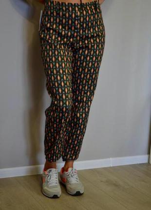 Супер брюки геометрический узор h&m летние