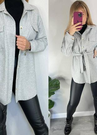 Рубашка пальто, теплая рубашка с поясом