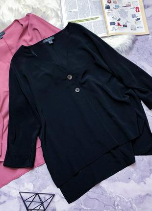 Модная блуза свободного кроя 18-20