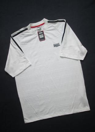 Фирменная мужская стрейчевая футболка большого размера lonsdal...