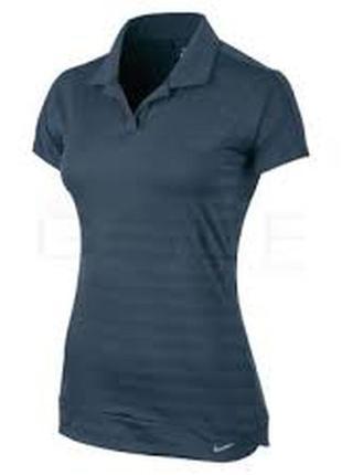 Фирменная футболка поло с полосками теней   nike dri-fit оригинал