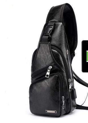 Мужской спортивный мини-рюкзак, РU 3 цвета + Наушники + Кабель