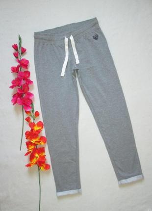 Классные трикотажные спортивные брюки серый меланж с начесом a...