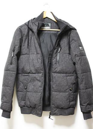 Cropp town куртка чоловіча сіра мужская куртка