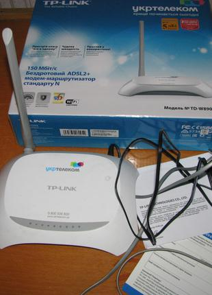 Роутер ADSL2+ модем маршрутизатор с WiFi TP-Link TD-W8901N Укртел