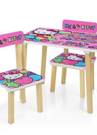 Детский столик со стульчиками деревянный 501-49