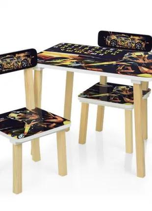 Детский столик со стульчиками деревянный 501-54