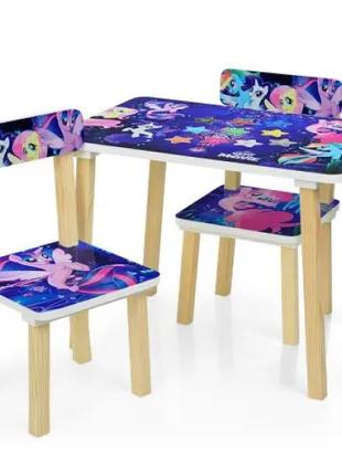 Детский столик со стульчиками деревянный 501-55