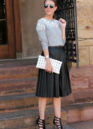 Плиссированная юбка с бархата