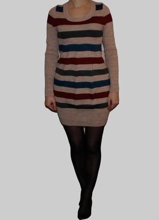 Платье-туника. в подарок шарфик