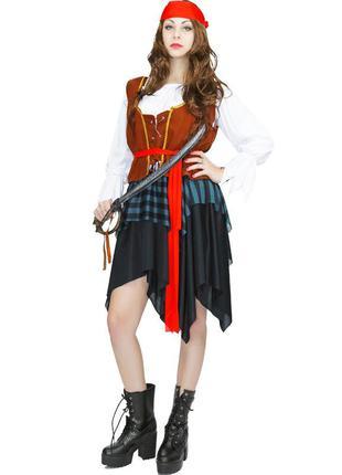 Маскарадный костюм пиратки - размер s/m