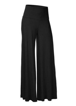 Трикотажные брюки палаццо