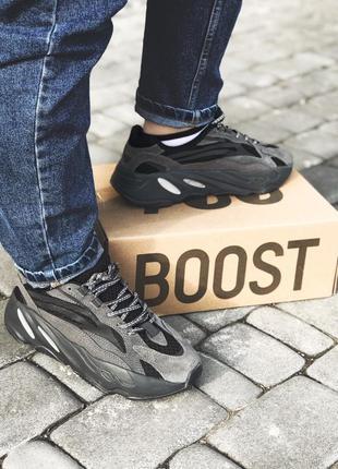 💞женские кроссовки adidas yeezy boost 700 black💞адидас изи бус...