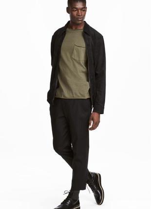 Чёрные брюки h&m premium quality из хлопкового твила !