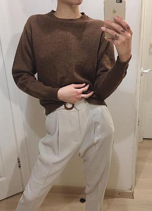 100% wool/шерсть/ свитер-джемпер из тонкой шерсти uniqlo