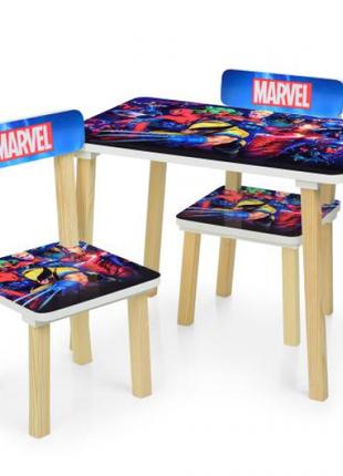 Детский столик со стульчиками деревянный Марвел 501-78