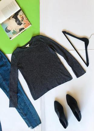 🔻🔻🔻 базовый серый джемпер свитер h&m. р-р м
