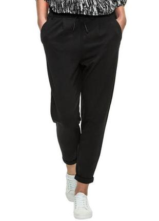 Суперовые укороченные модные стильные черные брюки джоггеры с ...