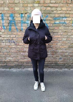 Куртка парка пуховик зимняя максимально плотная набивка пухом ...