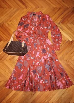 Моднейшее платье рубашка в цветочный принт