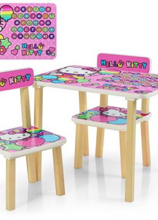 Детский столик со стульчиками деревянный 507-49