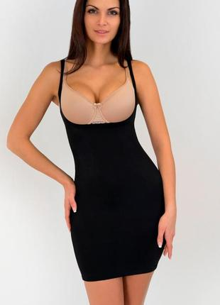 Корректирующее моделирующее утягивающее платье под бюстгальтер...