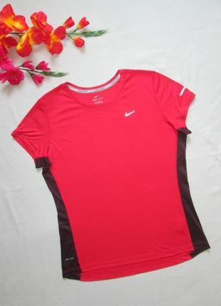 Фирменная спортивная футболка с контрастными вставками nike ор...