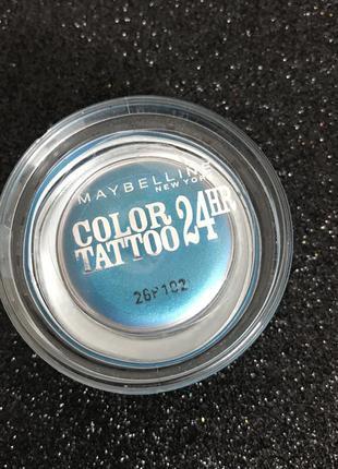 Кремовые тени colour tatoo maybelline